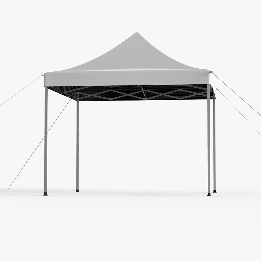 White Canopy Tent Gazebo royalty-free 3d model - Preview no. 4
