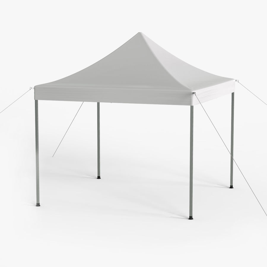 White Canopy Tent Gazebo royalty-free 3d model - Preview no. 1