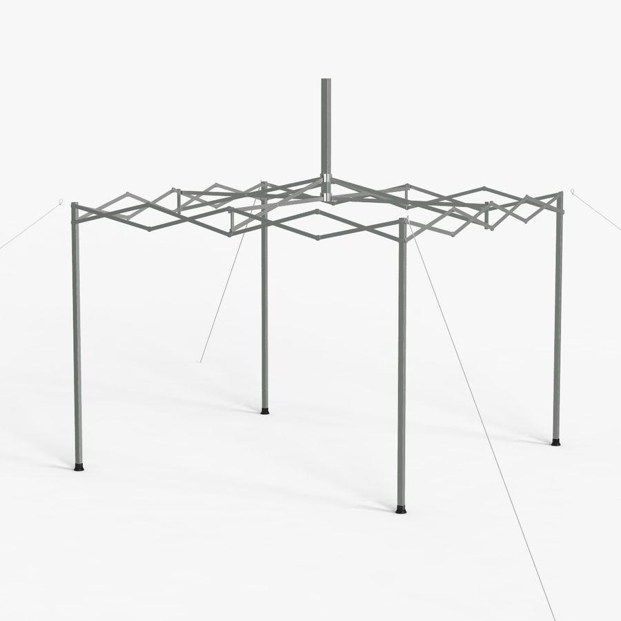 White Canopy Tent Gazebo royalty-free 3d model - Preview no. 7