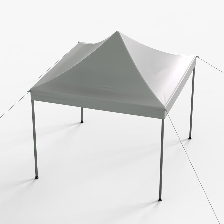 White Canopy Tent Gazebo royalty-free 3d model - Preview no. 2