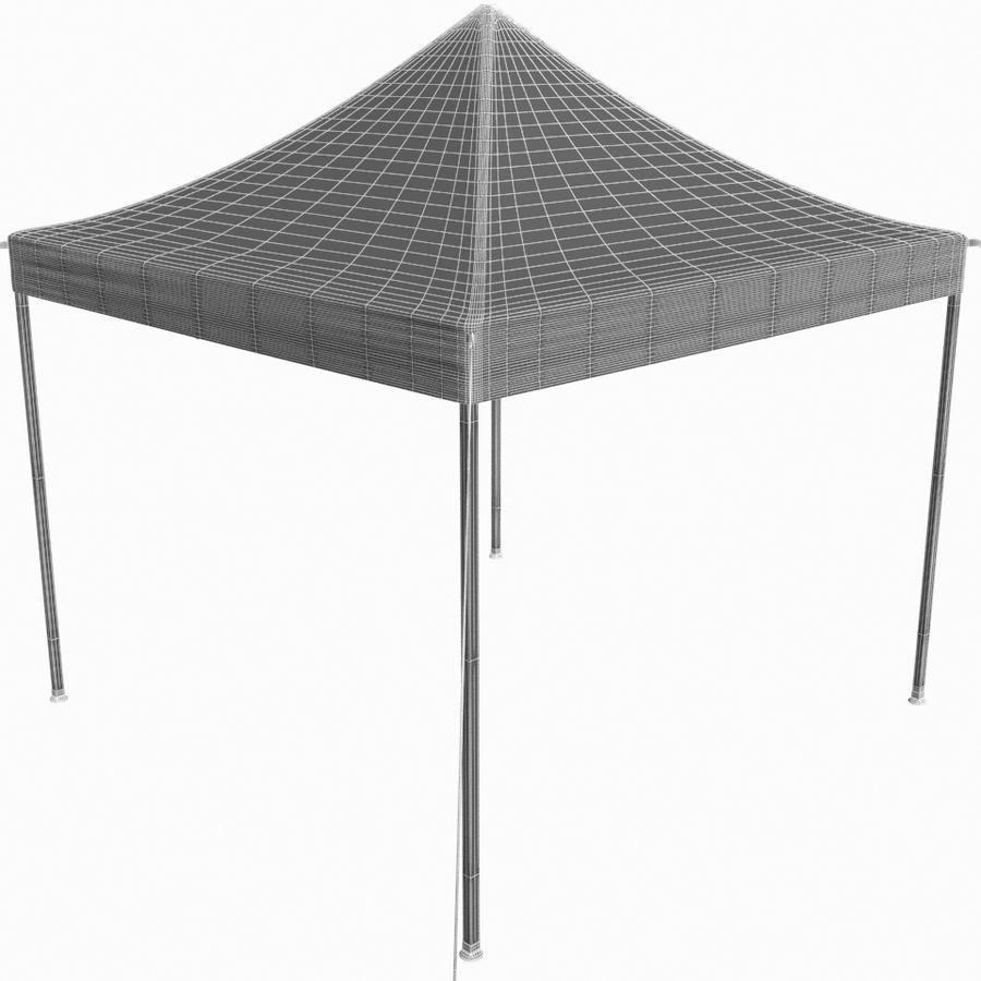 White Canopy Tent Gazebo royalty-free 3d model - Preview no. 10