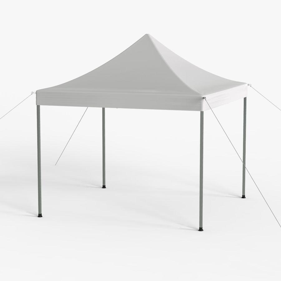 White Canopy Tent Gazebo royalty-free 3d model - Preview no. 8