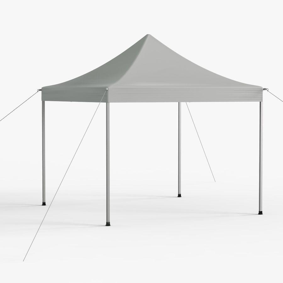 White Canopy Tent Gazebo royalty-free 3d model - Preview no. 3