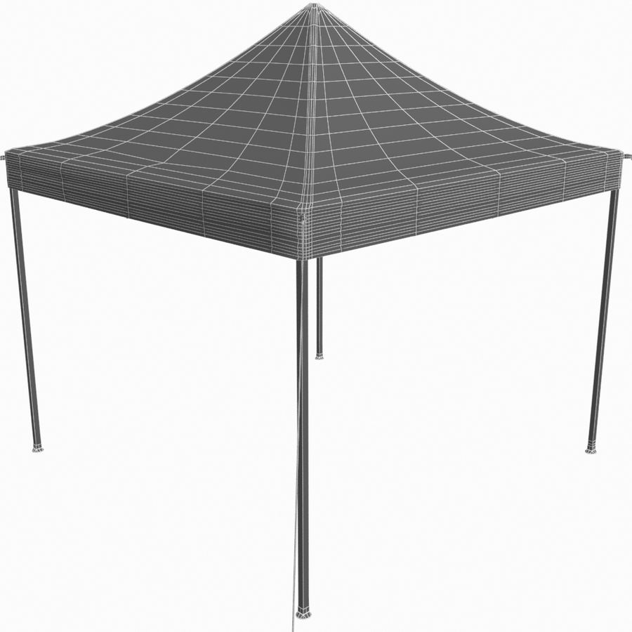 White Canopy Tent Gazebo royalty-free 3d model - Preview no. 9
