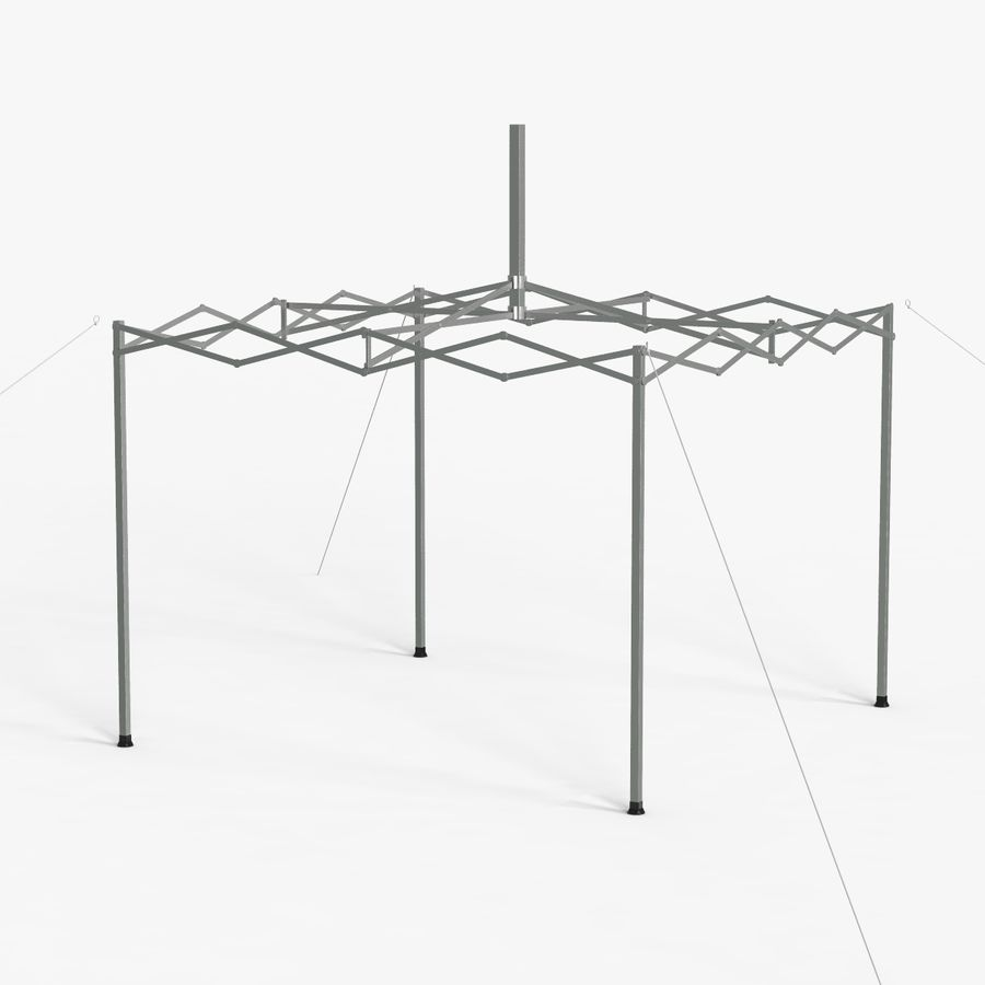 White Canopy Tent Gazebo royalty-free 3d model - Preview no. 7