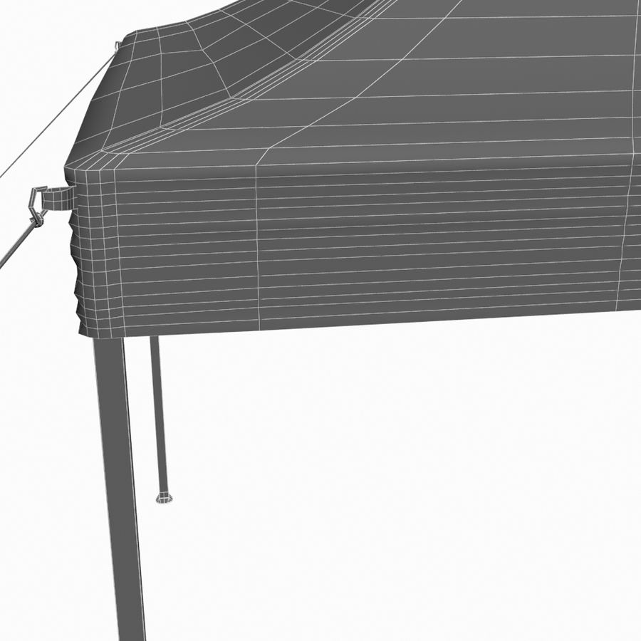 White Canopy Tent Gazebo royalty-free 3d model - Preview no. 11