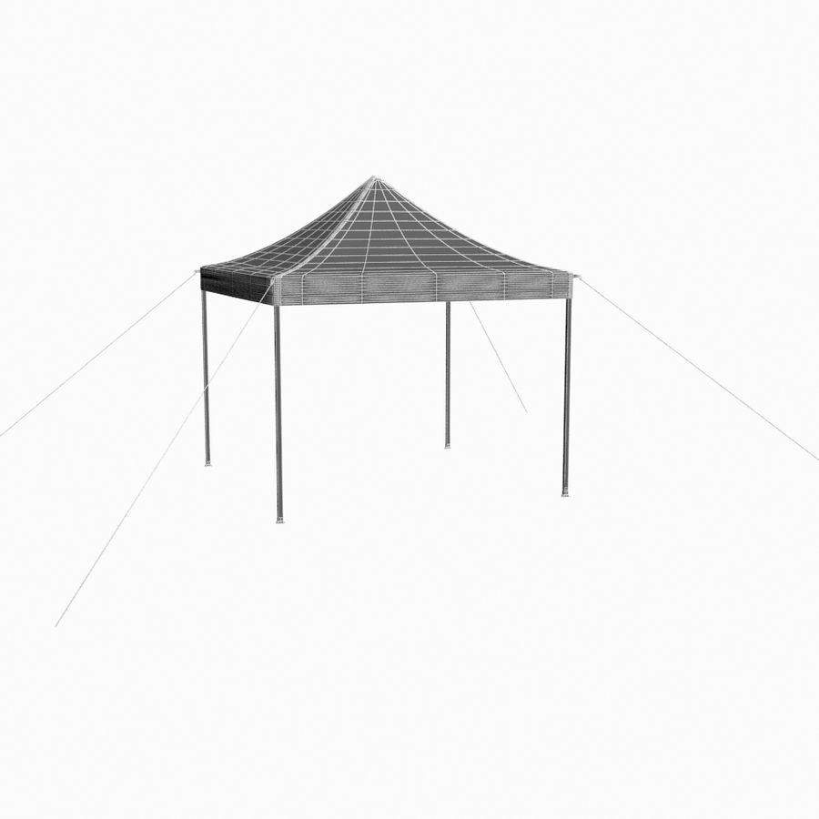 White Canopy Tent Gazebo royalty-free 3d model - Preview no. 13