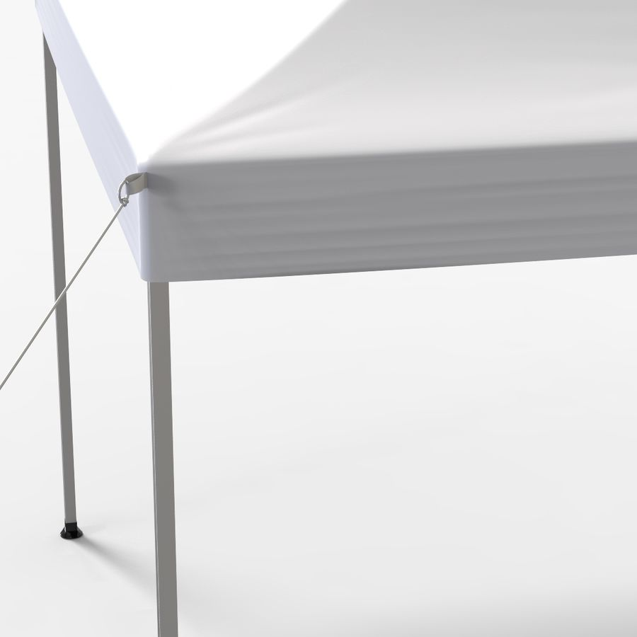 White Canopy Tent Gazebo royalty-free 3d model - Preview no. 5
