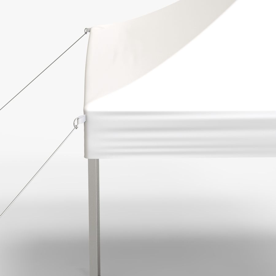 White Canopy Tent Gazebo royalty-free 3d model - Preview no. 6