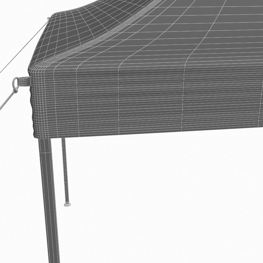 White Canopy Tent Gazebo royalty-free 3d model - Preview no. 12