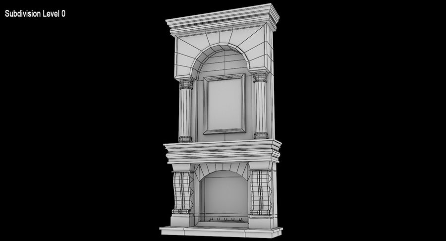 Fireplace #1 royalty-free 3d model - Preview no. 9