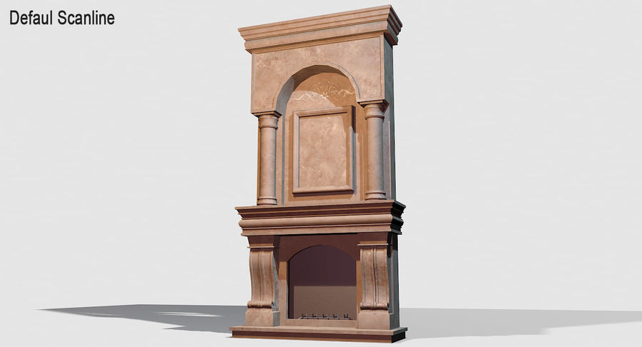 Fireplace #1 royalty-free 3d model - Preview no. 8