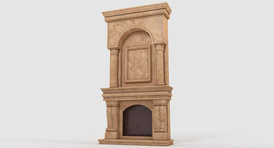 Fireplace #1 royalty-free 3d model - Preview no. 3
