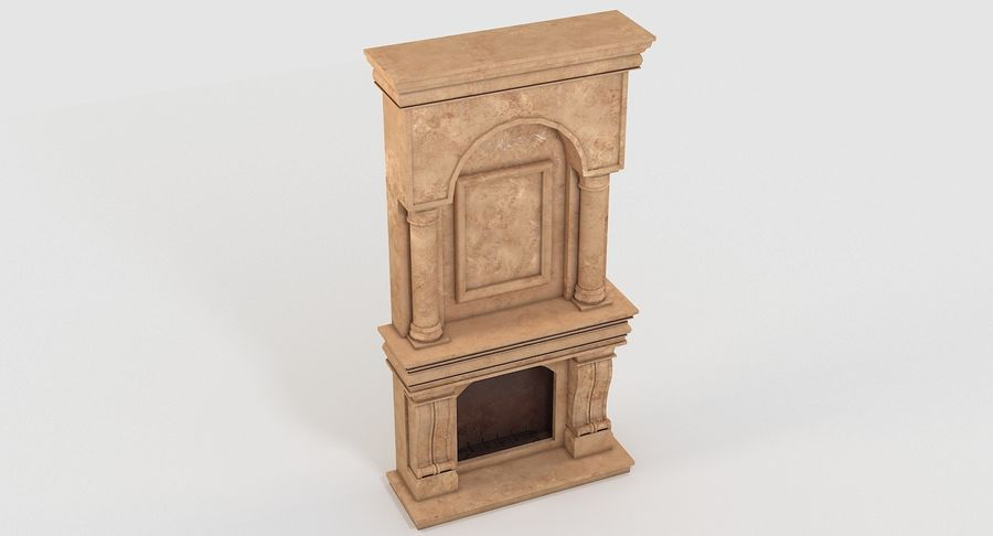 Fireplace #1 royalty-free 3d model - Preview no. 5
