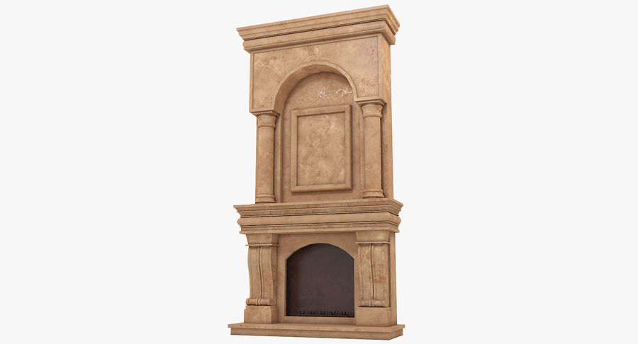 Fireplace #1 royalty-free 3d model - Preview no. 2