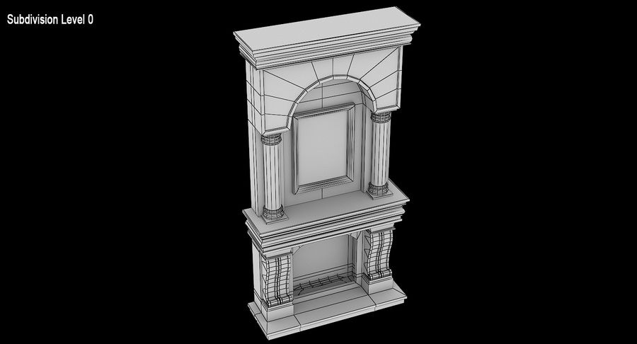 Fireplace #1 royalty-free 3d model - Preview no. 10