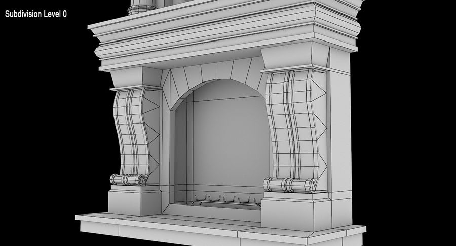 Fireplace #1 royalty-free 3d model - Preview no. 11