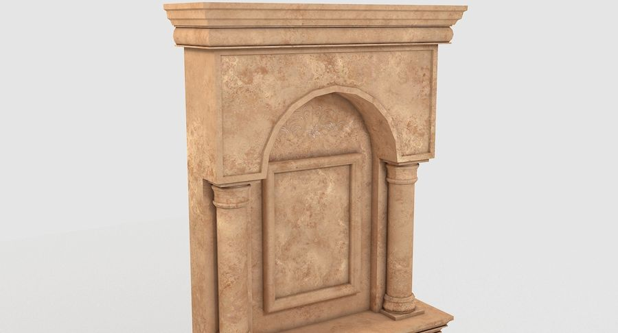Fireplace #1 royalty-free 3d model - Preview no. 7