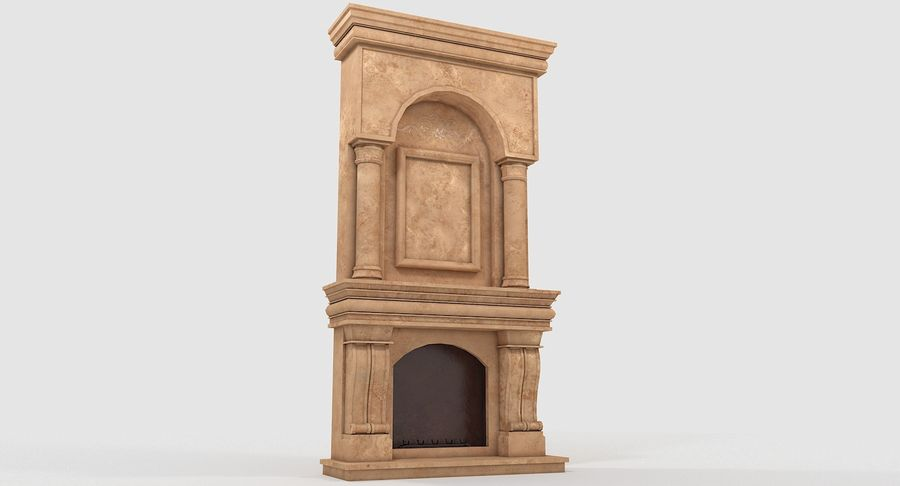 Fireplace #1 royalty-free 3d model - Preview no. 4