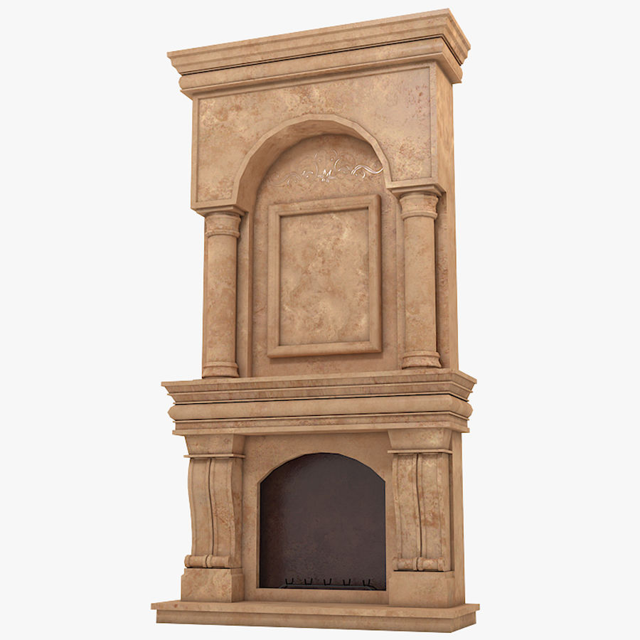 Fireplace #1 royalty-free 3d model - Preview no. 1