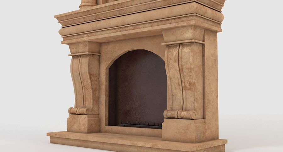 Fireplace #1 royalty-free 3d model - Preview no. 6