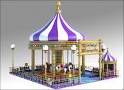 Fantasie-Karussell 3d model