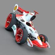 Cartoon Sport Car 3d model