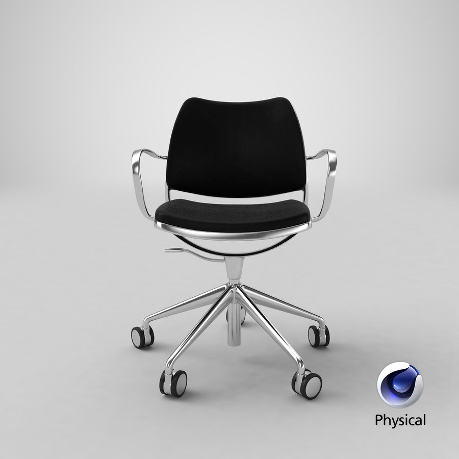 Modern Ofis Koltuğu royalty-free 3d model - Preview no. 24
