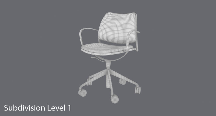 Modern Ofis Koltuğu royalty-free 3d model - Preview no. 16