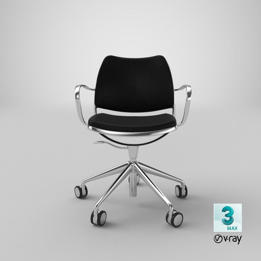 Modern Ofis Koltuğu royalty-free 3d model - Preview no. 22
