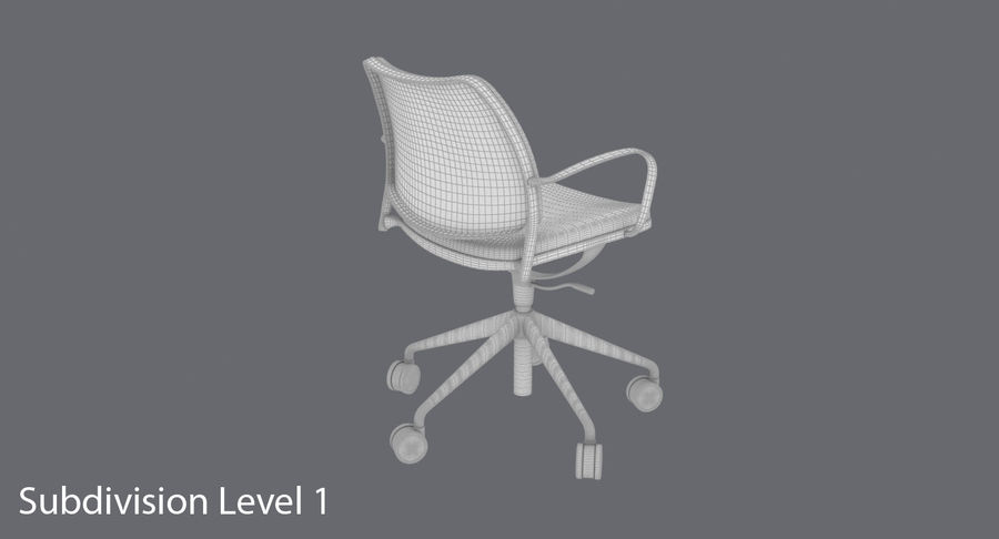 Modern Ofis Koltuğu royalty-free 3d model - Preview no. 18