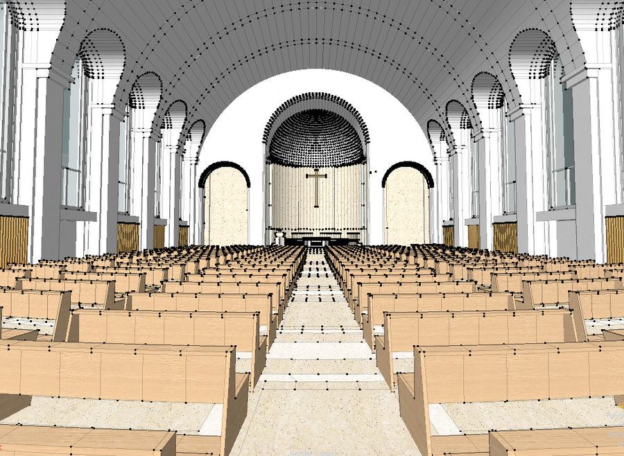 Cathedral royalty-free 3d model - Preview no. 6