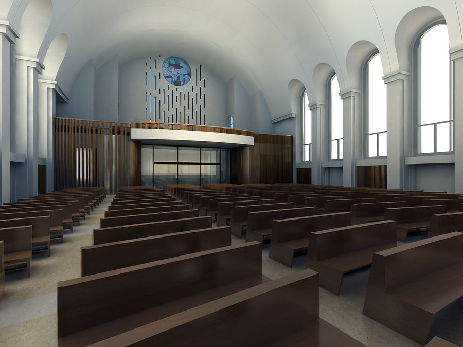 Cathedral royalty-free 3d model - Preview no. 4