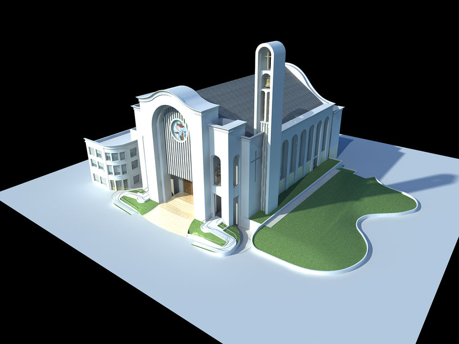 Cathedral royalty-free 3d model - Preview no. 1