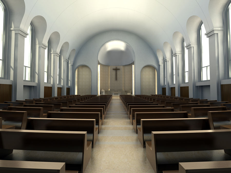 Cathedral royalty-free 3d model - Preview no. 5
