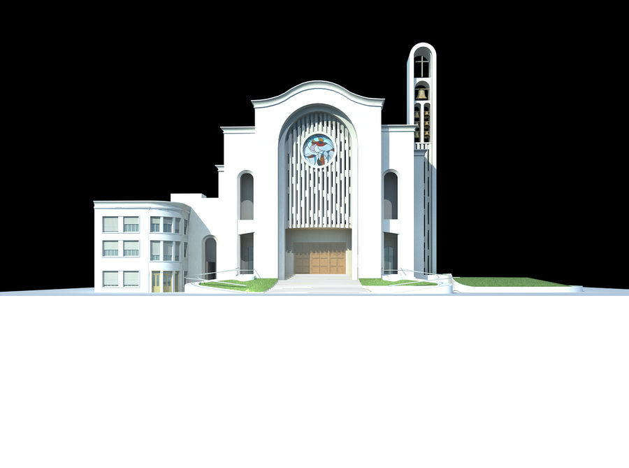 Cathedral royalty-free 3d model - Preview no. 3