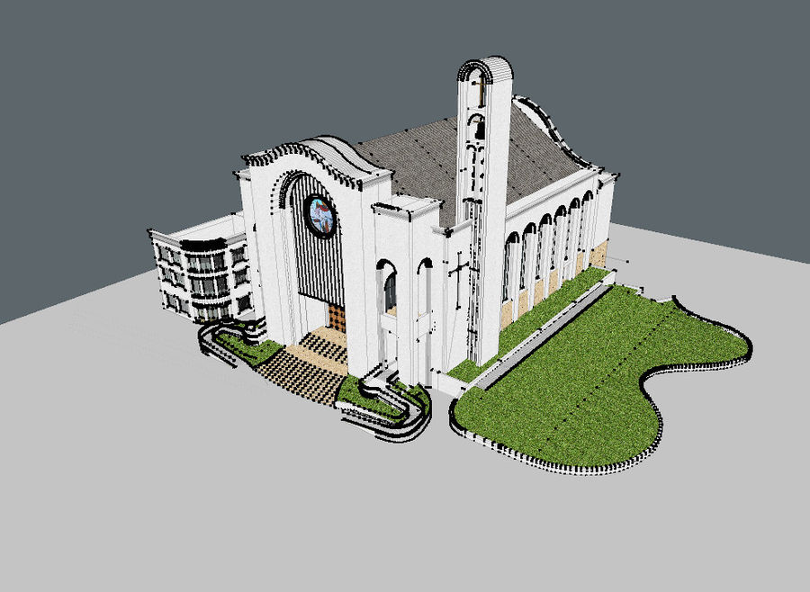 Cathedral royalty-free 3d model - Preview no. 7