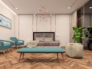 Hotel Room Scene for Revit 3d model