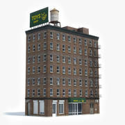 Apartment Building 36 3d model