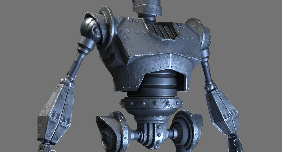 The Iron Giant. royalty-free 3d model - Preview no. 9