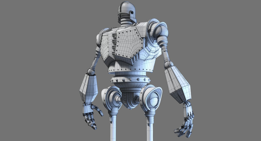 The Iron Giant. royalty-free 3d model - Preview no. 18