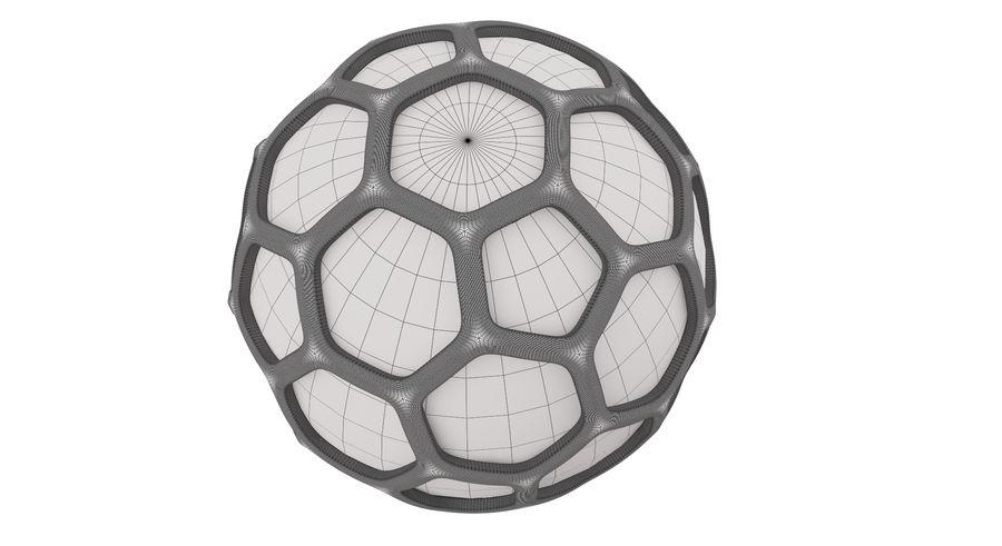 六角銀ボール royalty-free 3d model - Preview no. 13