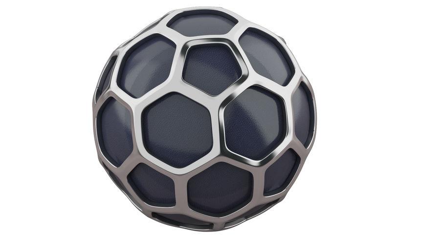 六角銀ボール royalty-free 3d model - Preview no. 2