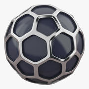 Hexagon Silver Ball 3d model