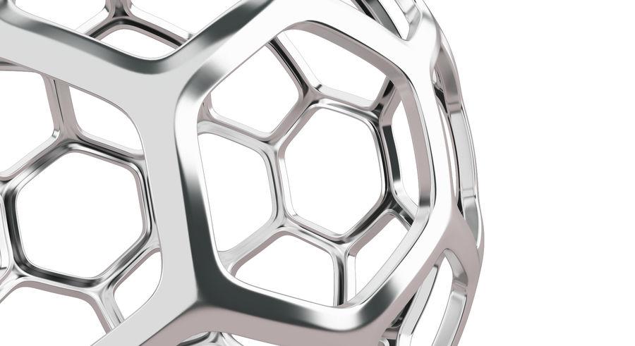 六角銀ボール royalty-free 3d model - Preview no. 10