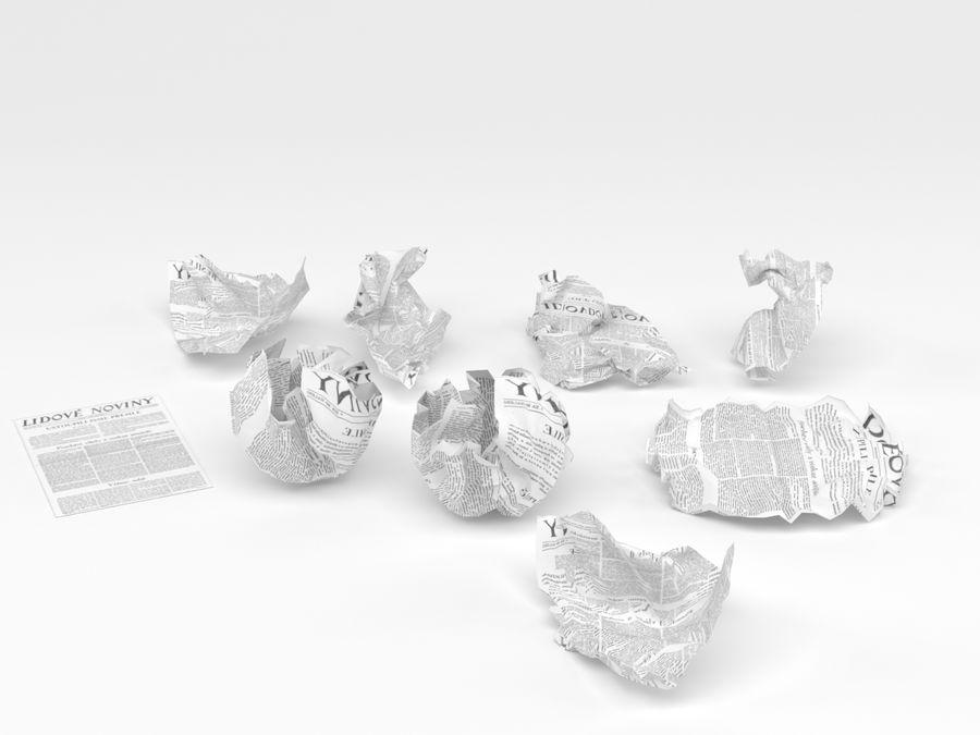 Skrynkligt papper royalty-free 3d model - Preview no. 5