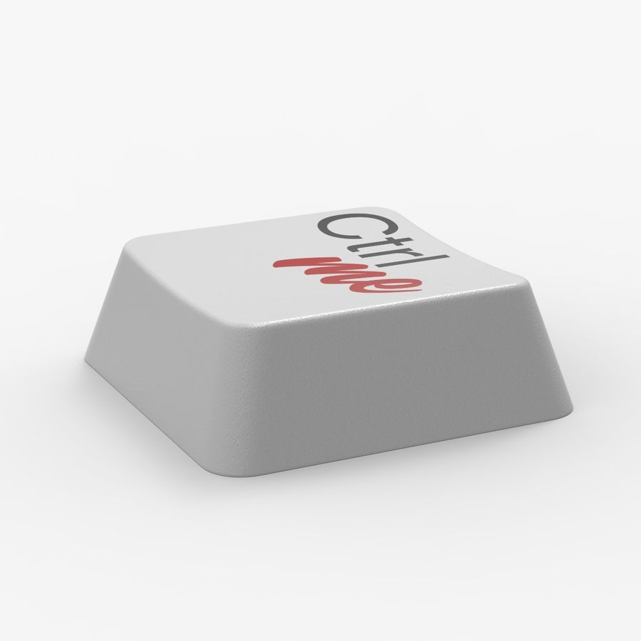 Computer Pad Key royalty-free 3d model - Preview no. 3