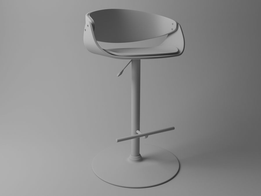 Bar Stool royalty-free 3d model - Preview no. 4