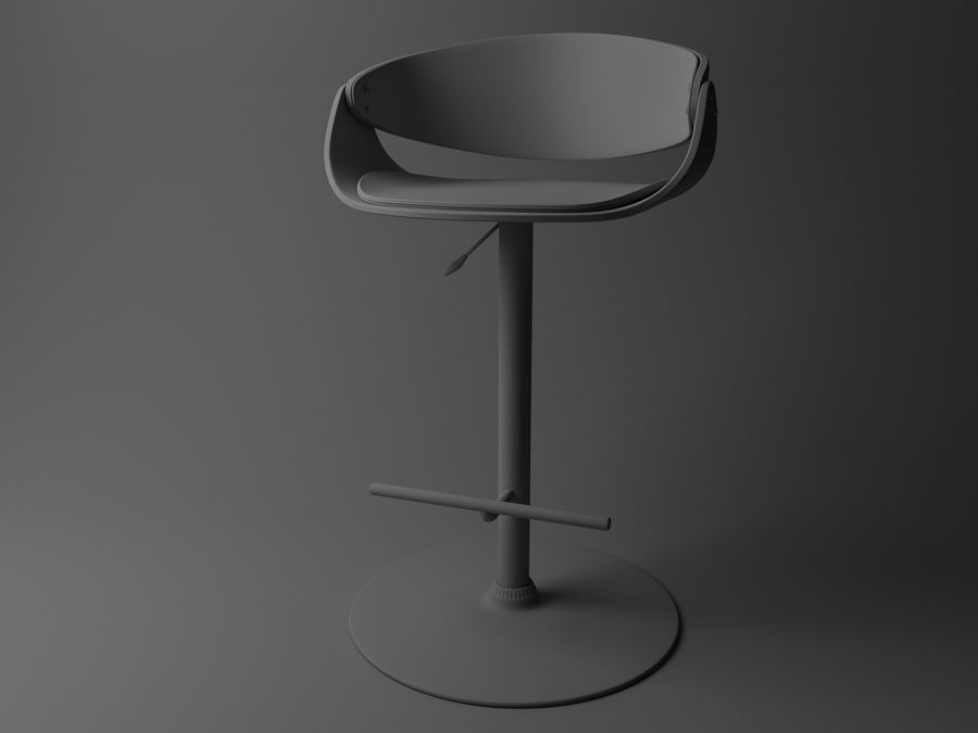 Bar Stool royalty-free 3d model - Preview no. 3