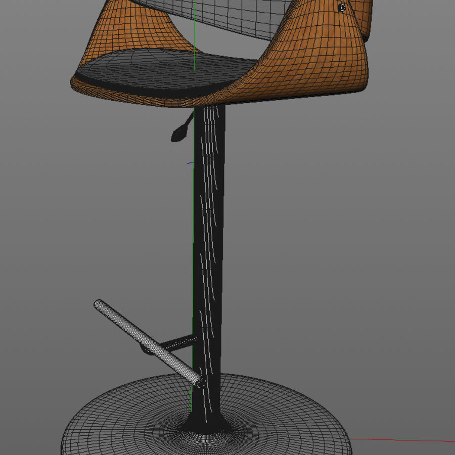 Bar Stool royalty-free 3d model - Preview no. 8
